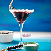 Blueberry Martinis