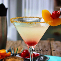 Sparkle Peach Martinis
