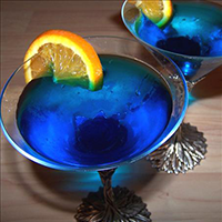 Blue Moon Cosmo Martini
