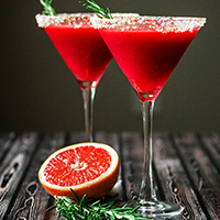 Raspberry Rosemary Martini